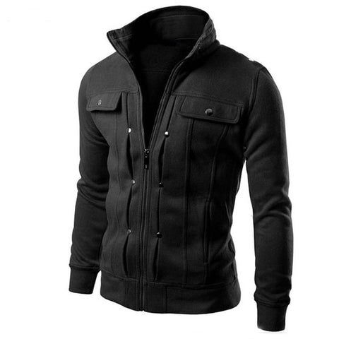 Hot Sale 2017 New Fashion Brand Jacket Men Clothes Trend Slim Fit High-Quality Male Zipper Casual Mens Jackets And Coats M-4XL