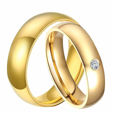 Boys Rings Girls Rings Men's Rings Men's Rings Rings 18 K gold plated quality rings CZ diamond stainless steel engagement ring accessories for the 's / man's jewelry
