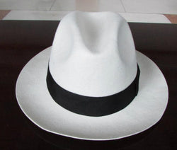 Pure wool felt hat Stylish wool large brim formal bailey borsalino godfather fedora hats for mens stage proformance hat B-1539