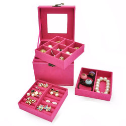 Jewelry Box makeup organizer and carry case
