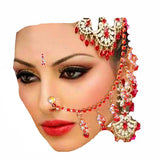 Indian Nose Chain clip Belly Dance costume Jewelry colurful crystal