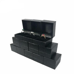 Jewelry Box 12 piece Black Leatherette Gift Box For Rings and Jewellery