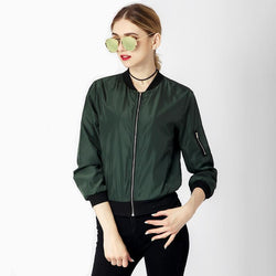 Casual Bomber Jacket Coat for Autumn or Winter Windbreaker