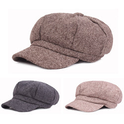 Men Vintage Cotton Wool Gatsby Newsboy Hat Cabbie Driver Cap Peaky Flat Hats HATCS0525