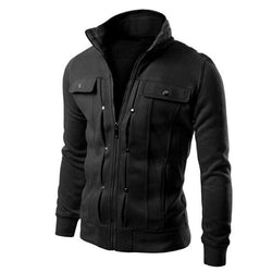 Fashion men are upscale in winter slim Fit Casual trench Solid Zipper coat/male pure color Pure cotton long jackets #WQ8550