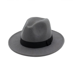 Fedoras Hats for Women Men Unisex Felt Trilby Hats Wide Brim Adjustable Fedora Jazz Hat Caps Ladies chapeu Feminino Femme