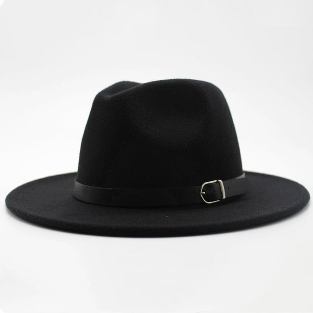 Brand oZyc Winter Autumn Imitation Woolen Women Men Ladies Fedoras Top Jazz  Hat European American Round e913abeac61