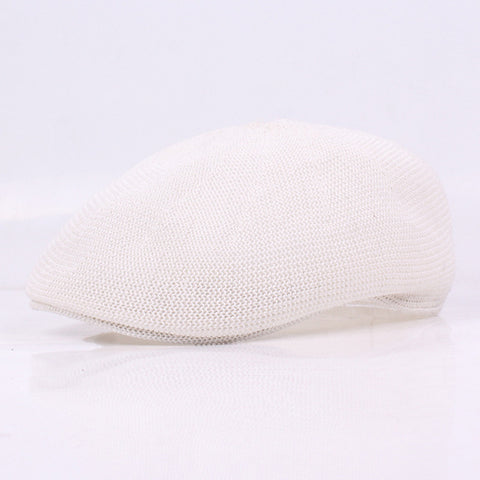 Wire Mesh Hollow Men's Mesh UK Leisure Visor Hat Ladies' Grass Head Cap Newsboy LU0351