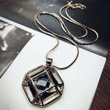 2016 New Arrival Women Pendant Necklaces  Crystal Necklace Female Temperament All-match Long Paragraph Sweater Chain - onlinejewelleryshopaus