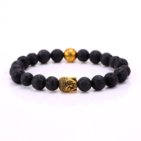 Natural Stone Bead Buddha Shamballa Bracelets for Women Men Gold Turquoise Black Lava Love Jewelry 2016 Charm Bracelet bb10260 - onlinejewelleryshopaus