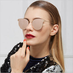 JinCool Cat Eye Fashion Brand Sunglass Men 2016 Vintage Sunglasses Women Designer Metal Mirrored Sun Glasses Oculos de sol S1004 - onlinejewelleryshopaus