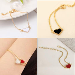 Jewelry Sale Good Quality 3 Colors Heart Bracelet For Woman 2016 New bracelets & bangles factory Price HOT SL01 - onlinejewelleryshopaus