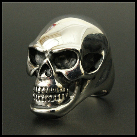Size 8-15 Band Party Huge Polishing Skull Ring 316L Stainless Steel Cool Fashion Men Silver Biker Skull Ring - onlinejewelleryshopaus