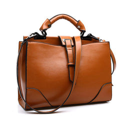 Casual Women's Handbag Brown Leather Shoulder Bag 2016 Business Ladies Tote Bag Hot Sale - onlinejewelleryshopaus