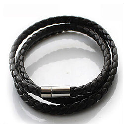 p2  Hot NEW Multilayer Synthetic Leather Braided Rope Bracelet Wristband Mens Cool Bangle Cuff Gift Drop Free - onlinejewelleryshopaus