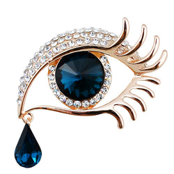 New Models Loved Clothes Sweater Accessories Simple Crystal Brooches Golden Plated Exaggeration Eye Brooch pins - onlinejewelleryshopaus