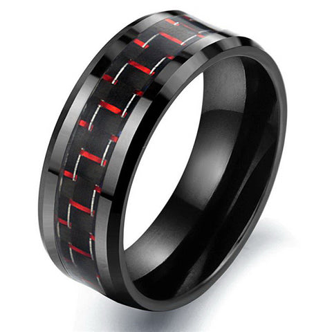 City FASHION Jewelry Wholesale Hot Sale West Men Accessories Top grade Black Ceramic Classic Rings Carbon Fiber Male Ring WJ201B - onlinejewelleryshopaus