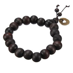Hot! Buddhist Tibetan Buddha Strand Bracelet Vintage Wood Beads Bracelet Men Natural Handmade Male Bracelet Bangle H5071 P50 - onlinejewelleryshopaus
