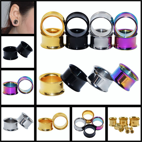 Ear Expander Body  Piercing Jewelry Double Flare Hollow Body Piercings Trendy Ear Expander Plug Tunnel Jewelry  Ear Gauges - onlinejewelleryshopaus