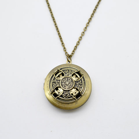 1pcs Celtics Perfume Lockets Pendant Antique Bronze Cross Essential Oil Diffuser Lockets Necklace Aromatherapy Jewelry XSH-51 - onlinejewelleryshopaus