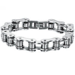 Stainless Steel Bracelet Men Biker Bicycle Motorcycle Chain Men's Bracelets Mens Bracelets & Bangles Fashion Jewelry - onlinejewelleryshopaus