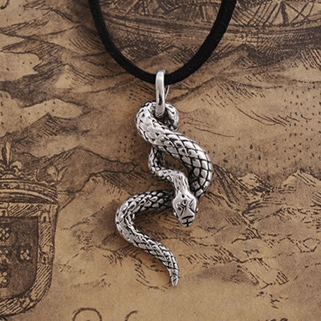 2014 Personality Gothic jewelry snake shaped pendant necklace Titanium steel men necklace not fading free  shipping - onlinejewelleryshopaus