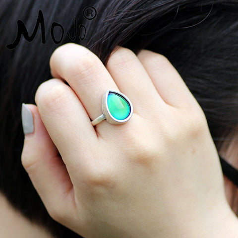 Fashion Boho Retro Vintage Stone Mood Rings Temperature Sensing Color Change Ring Big Rings for Women Men MJ-RS047 - onlinejewelleryshopaus