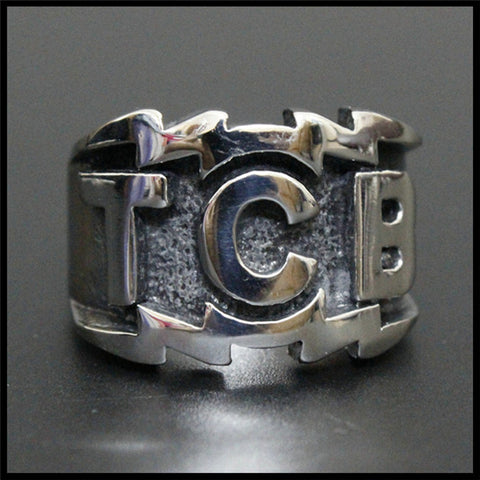 1pc New Arrival Cool Design Silver Ring 316L Stainless Steel Man Boy Fashion TCB Ring - onlinejewelleryshopaus