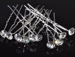 40pcs Wedding Bridal Hair Pin Fashion Clear Crystal Hairpin Clips For Women Jewelry Wholesale Lots Gift - onlinejewelleryshopaus