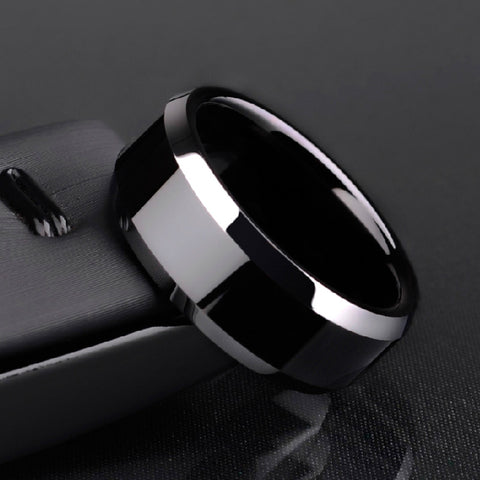 New Arrival Free Shipping 6mm/8mm Tungsten Man's Rings Plating the IP Black High Polished Comfort Fit Band Size 5-12 - onlinejewelleryshopaus