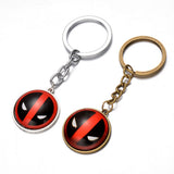Hot Marvel Hero X-Men Deadpool Pendant Key Chain Ring Holder Trinket  2 colors Metal Keychain Cosplay Jewelry free shipping - onlinejewelleryshopaus