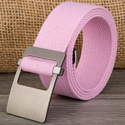 130cm Plus Size Women Belt Female Strap Ladies Casual Style Waist Canvas Belt For Jeans - onlinejewelleryshopaus