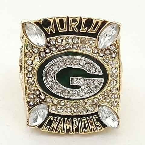 Wholesale Super Bowl 2010 Green Bay Packers Zinc Alloy 24K gold plated Custom Sports Replica Fans World Championship Ring - onlinejewelleryshopaus