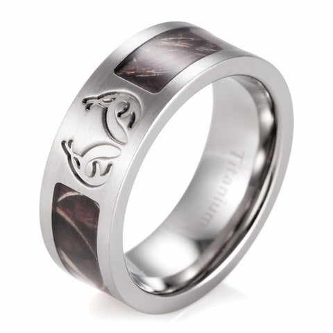 men rings Men's Real tree MAX-4 Antler Camo Wedding Ring Titanium Camo Outdoor Hunting Men Ring Free shipping ring for men - onlinejewelleryshopaus