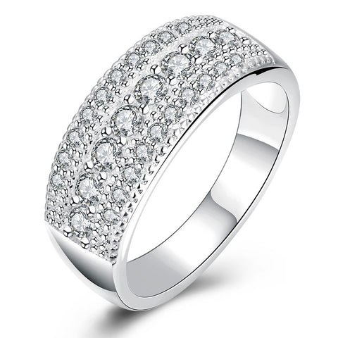 Latest Pure Authentic  925 Silver Ring Bling Bling Full CZ Cubic Zircon Rings For Woman Man Wedding Engagement Fashion Jewelry - onlinejewelleryshopaus