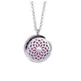 1Pc Stainless Steel Aromatherapy Fillligree Locket  Essential Oil Diffuser Locket Necklace With 5 different Refill Pads - onlinejewelleryshopaus