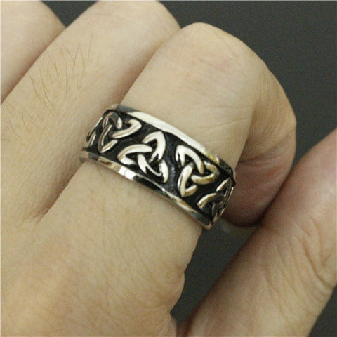 Drop Ship Mens Cool Fashion Biker Ring Stainless Steel Jewelry Egyptian Pattern Ring Thor Hammer Fashion Jewelry - onlinejewelleryshopaus