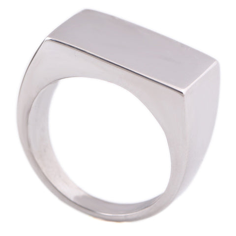 Wholesale Men's High Polished Signet Solid Stainless Steel Man Ring 316L Stainless Steel Biker Ring for Men - onlinejewelleryshopaus