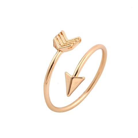 10Pcs/lot 2016 New Fashion Wholesale Gold Plated Brass Small Arrow Rings for Women Simple Rings Free Shipping JZ008 - onlinejewelleryshopaus