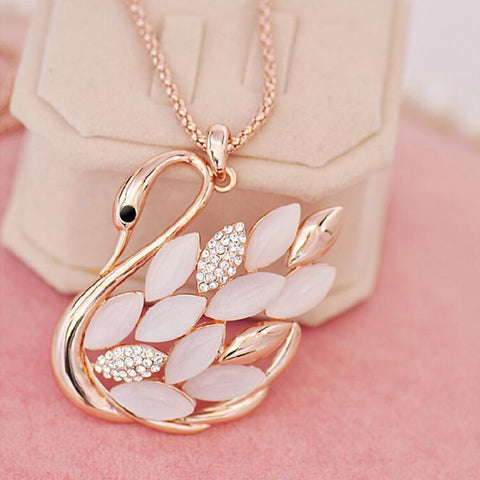 2015 Direct Selling Real Collares Mujer Collier Necklaces Swan Fashion Accesories Long Necklace Pendant Fine Jewelry Women - onlinejewelleryshopaus