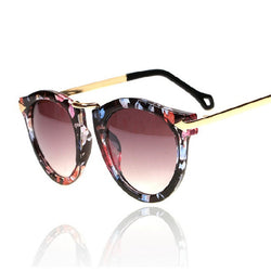 Flower Cat Eye Womens Sunglasses Women Luxury Brand Designer Retro Vintage Sun Glasses For Womaen Female Cateye Arrow Shades - onlinejewelleryshopaus