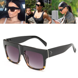 Luxury Brand Designer Kim Kardashian Fat Top Sunglasses Women Retro Shades Sun Glasses for Men Gafas Oculos De Sol Feminino M092 - onlinejewelleryshopaus