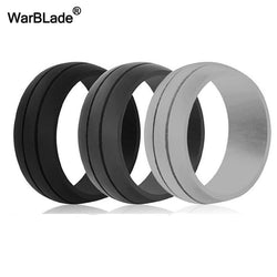 WarBLade 8MM 100% Natural Silicone Ring Hypoallergenic Crossfit Flexible Rubber Finger Rings For Women Men Party Wedding Rings