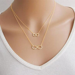 Gold Silver  Simple 8 Shaped Choker Bib Necklace Collier Femme For Women Fashion Jewelry Collares - onlinejewelleryshopaus