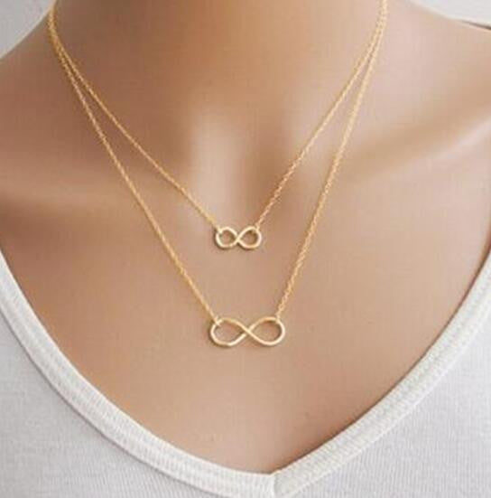 6ca5f034d Fine Jewellery Necklaces and Pendants Pendant Necklaces Gold Silver Simple  8 Shaped Choker Bib Necklace Collier Femme For Women Fashion Jewelry  Collares