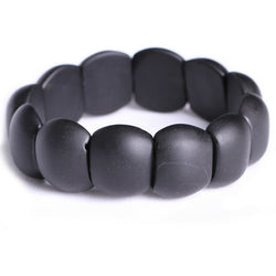 Real Black Bianshi Natural Bian Stone Bracelet For Men&Women Black Jade Bracelet or bianshi bracelet is High Quality - onlinejewelleryshopaus