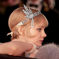The Great Gatsby Hair Accessories Crystals Pearl Tassels Hair  Headband Hair Jewelry Wedding Bridal Hairband Tiaras and crowns - onlinejewelleryshopaus