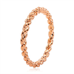 Rose Gold Plated Twisted Rope Toe Rings for Women Simple Brand Design Femme Girls Jewelry Wholesale Gift for Friends Lovers - onlinejewelleryshopaus