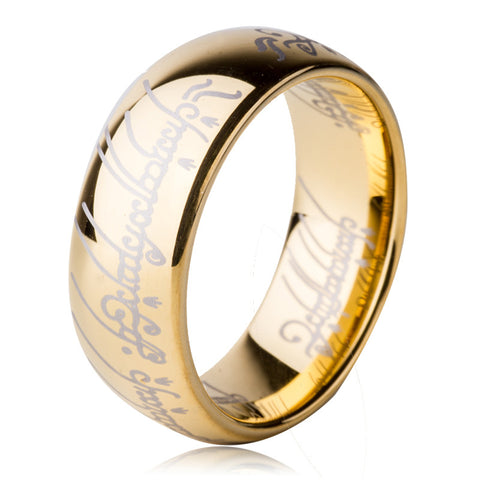 US Size 6 to 15 The Lord of One Ring of Power 8mm Men's Women's Tungsten Carbide Wedding Engagement Band Fashion Movie Jewelry - onlinejewelleryshopaus