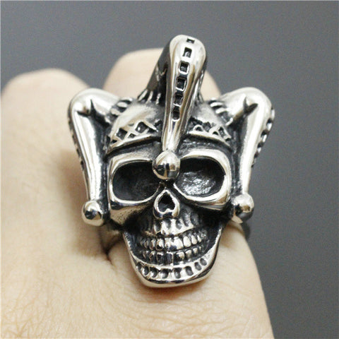 Size 8-13 Fashion Polishing Heavy Imperial Crown King Of The Skull Ring For Mens Ring 316L Stainless Steel Biker Ring - onlinejewelleryshopaus